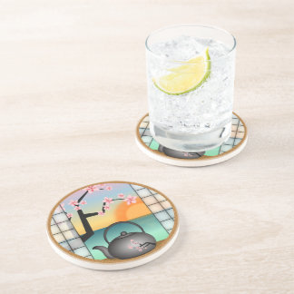 Japanese Tea Room Japan Sandstone Drink Coasters