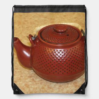 Japanese Teapot Drawstring Bag
