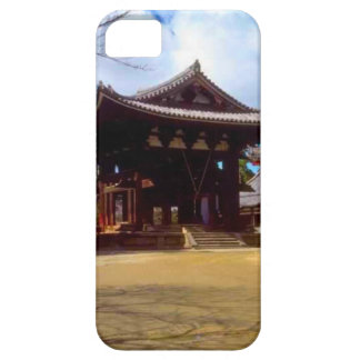 Japanese temple courtyard iPhone SE/5/5s case