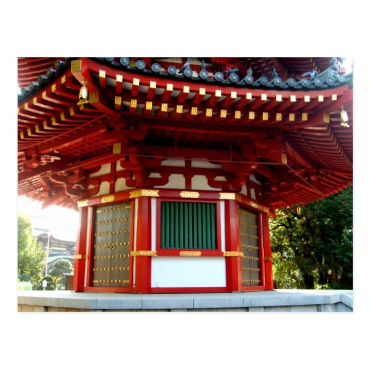 Japanese Temple Pagoda Postcard