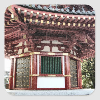 Japanese Temple Pagoda Sketch Stickers