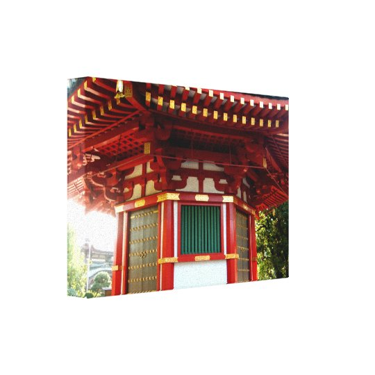 Japanese Temple Pagoda Wrapped Canvas Print