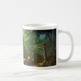Japanese Temple Ruins Jungle Landscape Coffee Mug