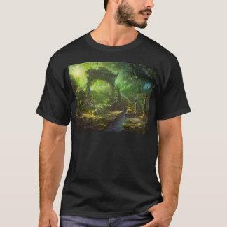 Japanese Temple Ruins Jungle Landscape T-Shirt