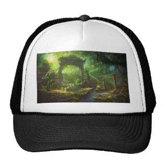 Japanese Temple Ruins Jungle Landscape Trucker Hat