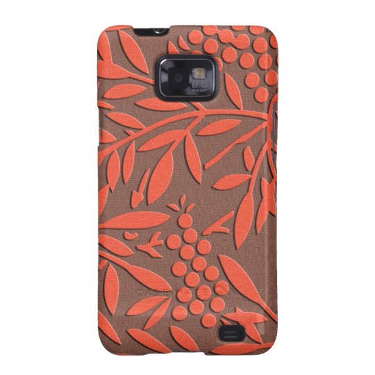 Japanese textile Leaves and berries Samsung Galaxy SII Case