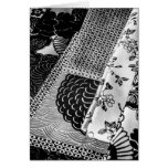 Japanese textiles photo in black and white greeting card