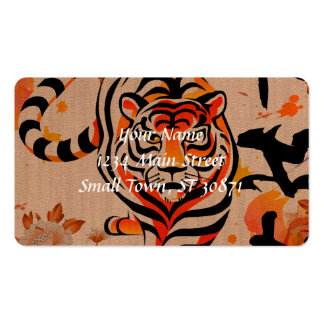 japanese tiger art business card