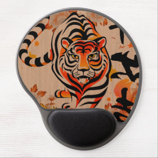 japanese tiger art gel mouse pad