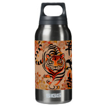 japanese tiger art insulated water bottle