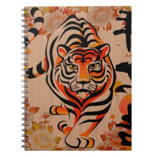 japanese tiger art spiral note book