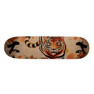 japanese tiger art skateboard