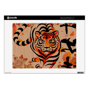 1d4a64b7ad418 japanese tiger art skin for acer chromebook