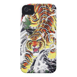 Japanese Tiger Tattoo Design Case-Mate iPhone 4 Cases