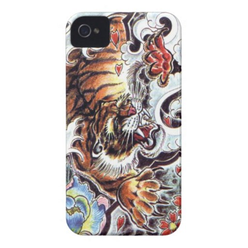 Japanese tiger tattoo iphone 4 case mate cases zazzle for Tattoo artist iphone cases