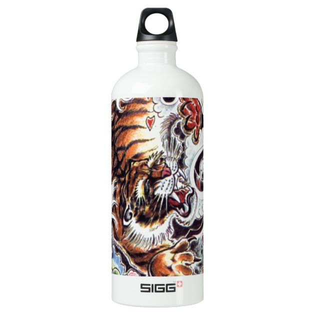 Japanese Tiger Tattoo Water Bottle Zazzle