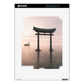 Japanese Torii Gate at a Shinto Shrine, Evening iPad 2 Decals