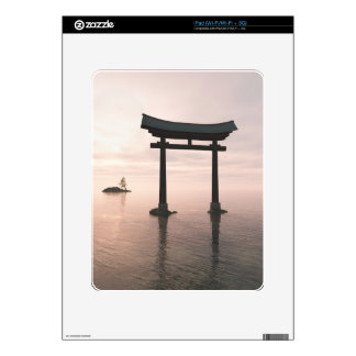 Japanese Torii Gate at a Shinto Shrine, Evening Skin For The iPad