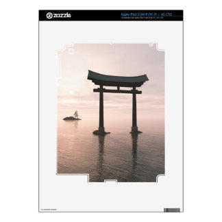 Japanese Torii Gate at a Shinto Shrine, Evening Skins For iPad 3