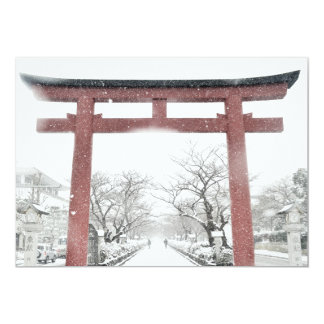 Japanese Torii Gate in the Winter Invitation