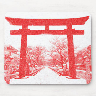 Japanese Torii Gate in the Winter Mousepad