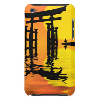 Japanese Torii (gate) sunset drawing iPod Touch Case