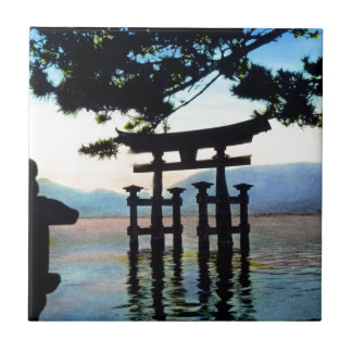 Japanese Torri Vintage Traditional Gate Ceramic Tile