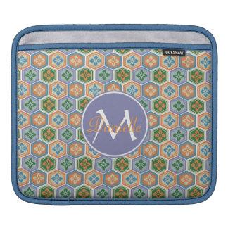 Japanese Tortoiseshell Honeycomb Lavender Orange Sleeves For iPads
