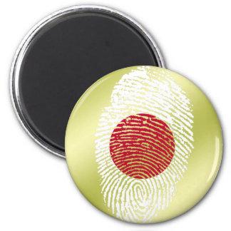 Japanese touch fingerprint flag 2 inch round magnet
