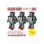 Japanese Toy Robot Soldier Post Cards