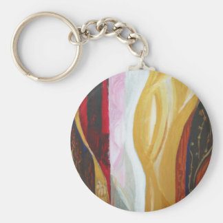 Japanese Traditional Fabric Patterns Basic Round Button Keychain