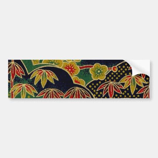 Japanese Traditional kimono Pattern Bumper Sticker