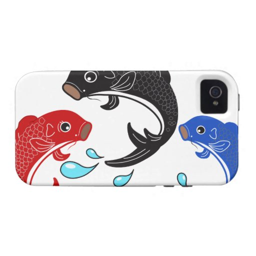Japanese Traditional Koi Fish Vibe iPhone 4 Covers