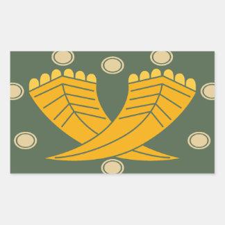 Japanese traditional pattern - CHOJI Rectangle Stickers