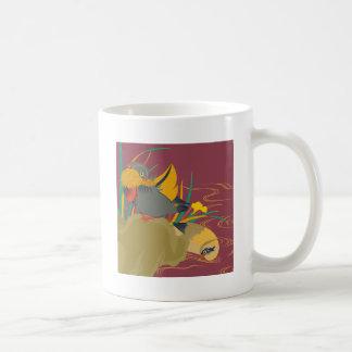 Japanese traditional pattern - Colorful bird Coffee Mug