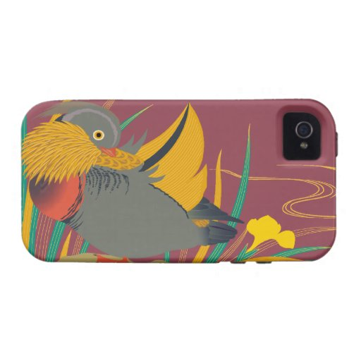 Japanese traditional pattern - Colorful bird iPhone 4 ケース