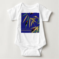 Japanese traditional pattern - Firefly of summer Baby Bodysuit