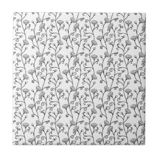 Japanese traditional pattern (flower) ceramic tile