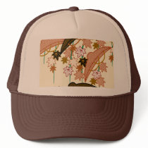 Japanese traditional pattern - Momiji Trucker Hat