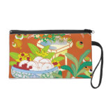 Japanese traditional pattern - Offerings to God Wristlet Purse
