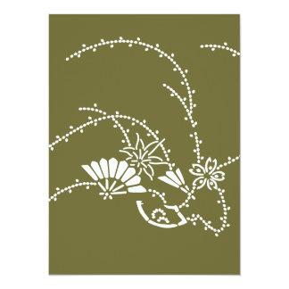 Japanese traditional pattern - sakura sensu card