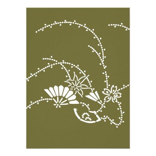 Japanese traditional pattern - sakura sensu オリジナル案内状