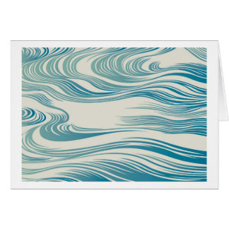 Japanese Traditional Wave Pattern Greeting Card