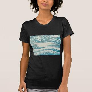 Japanese Traditional Wave Pattern Tee Shirt