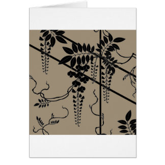 Japanese Traditional Wisteria Pattern Card