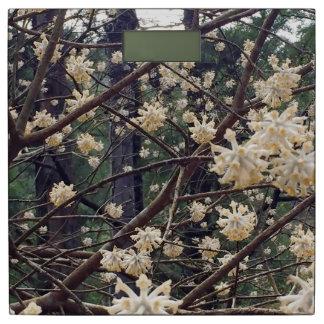 Japanese Tree Flower Bathroom Scale