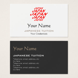Japanese Tutor Business Cards