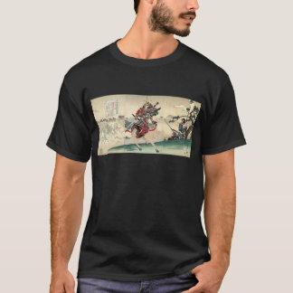 Japanese ukiyo-e horseback knight warrior samurai T-Shirt