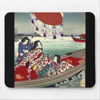 japanese ukiyo-e landscape kimono geisha mouse pad