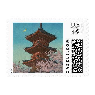 Japanese ukiyoe art (Hasui Kawase) Postage